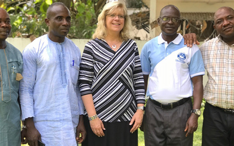 Carla Sunberg with Nigerian Leaders