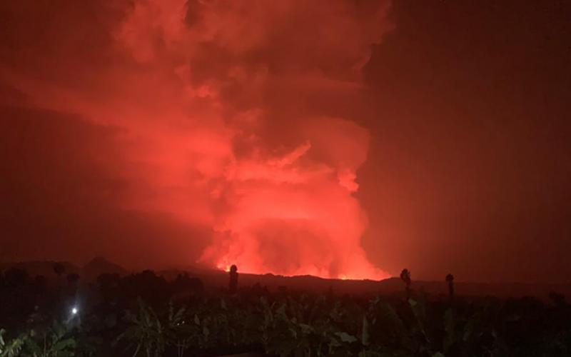 Nyarigongo Volcano eruption